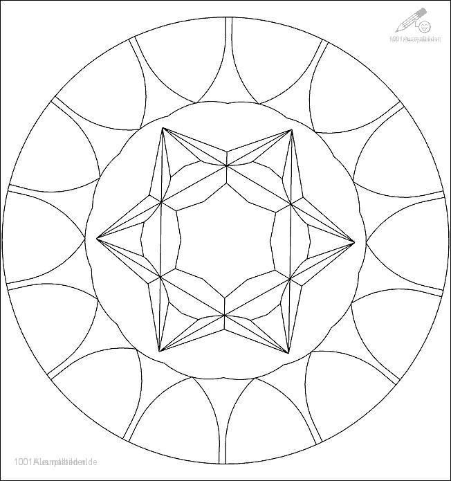 Ausmalbild: ausmalbild-mandala-9