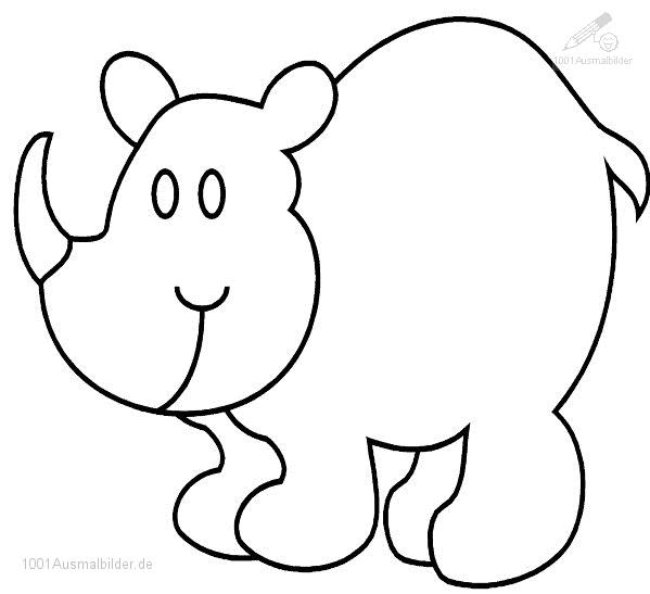 1001 Ausmalbilder Tiere Nashorn Ausmalbild Nashorn
