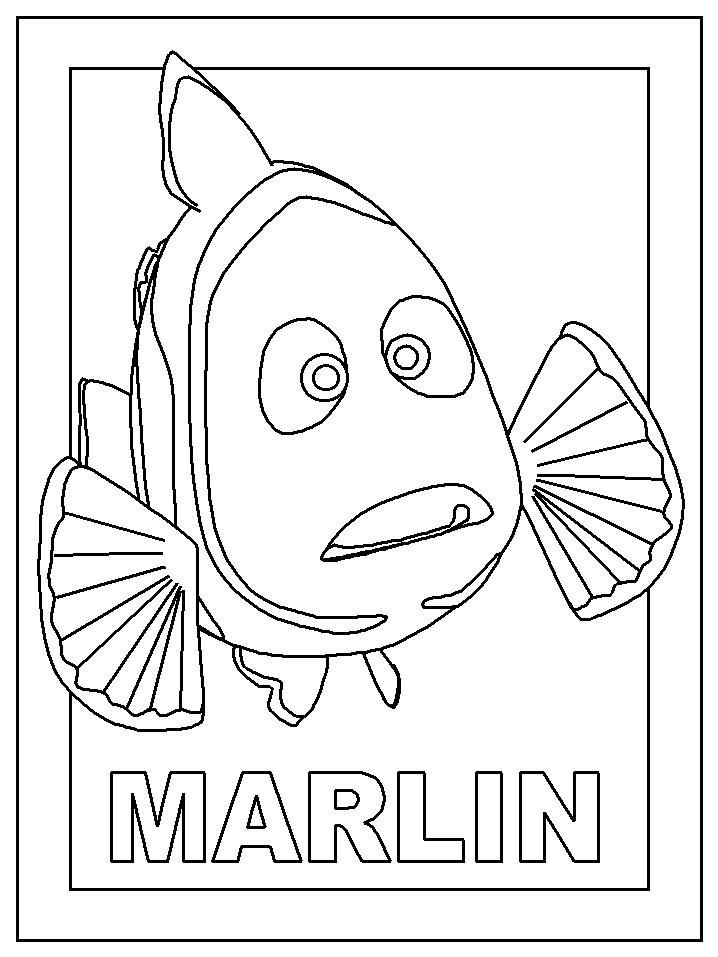 Ausmalbild Marlin