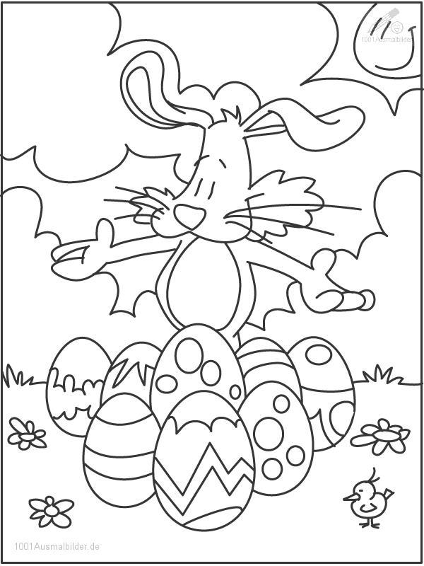 Osterhasen Ausmalbild