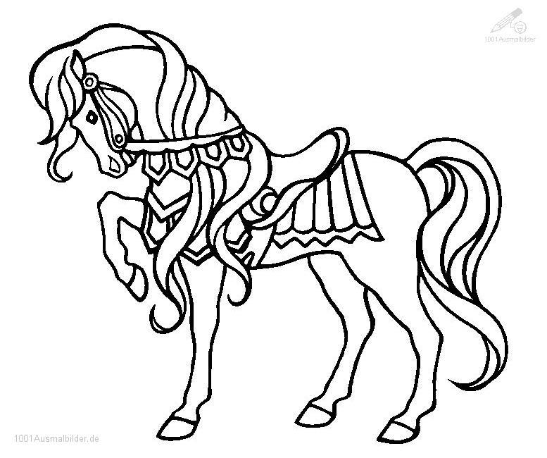 1001 AUSMALBILDER : Tiere >> Pferde >> Ausmalbild Pferd