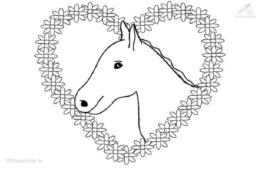 Ausmalbild: ausmalbild-pferd-4