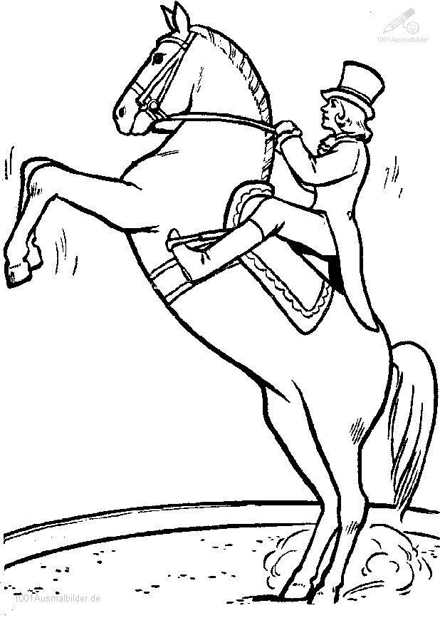 Ausmalbild Pferd