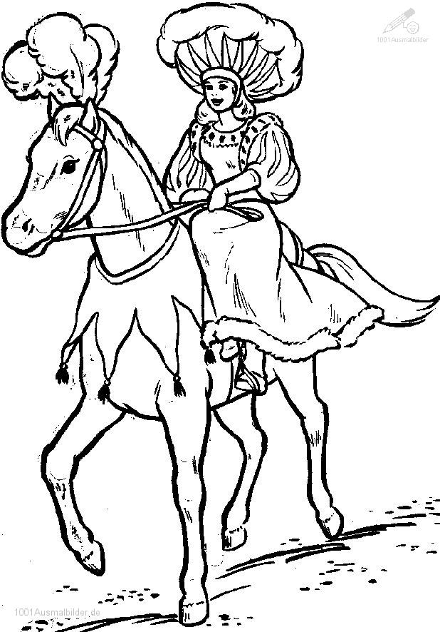 Ausmalbild Zirkus Pferd