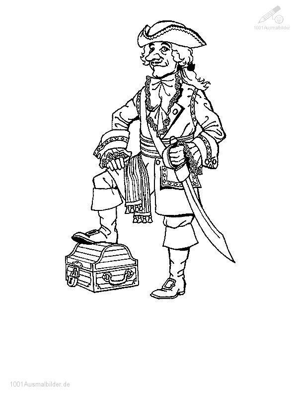 Ausmalbild Pirate