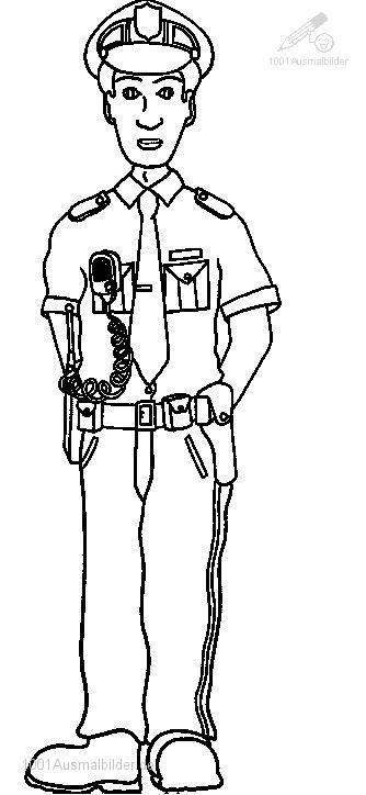 Ausmalbild: ausmalbild-polizei