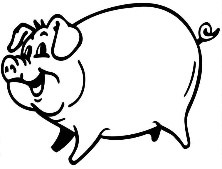 Ausmalbild: ausmalbild-schwein-8