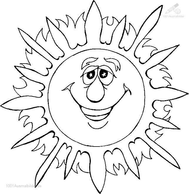 Ausmalbild Sonne
