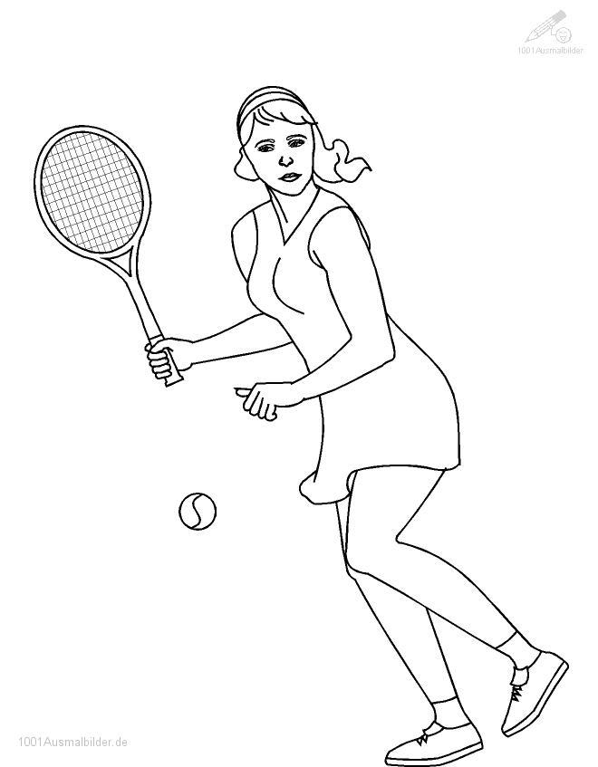 Tennis Ausmalbild