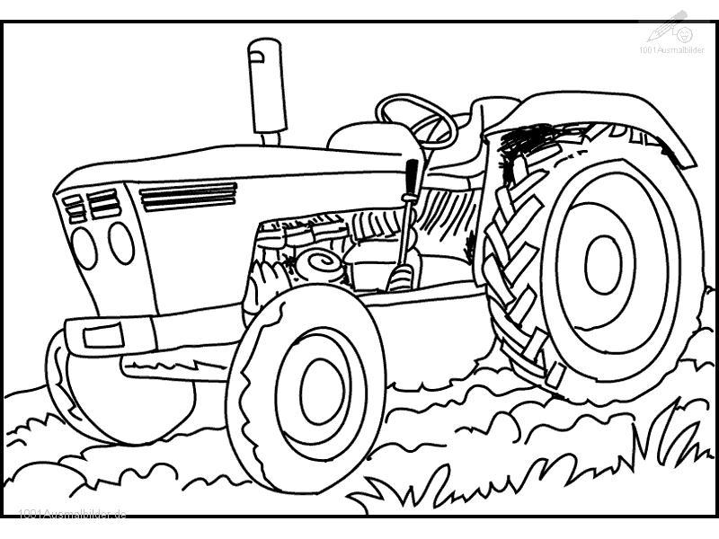 Ausmalbild Traktor