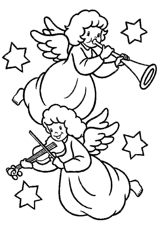 Ausmalbild: ausmalbild-weihnacht-engel-5