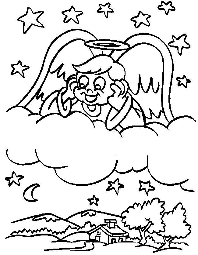 Ausmalbild: ausmalbild-weihnachts-engel-