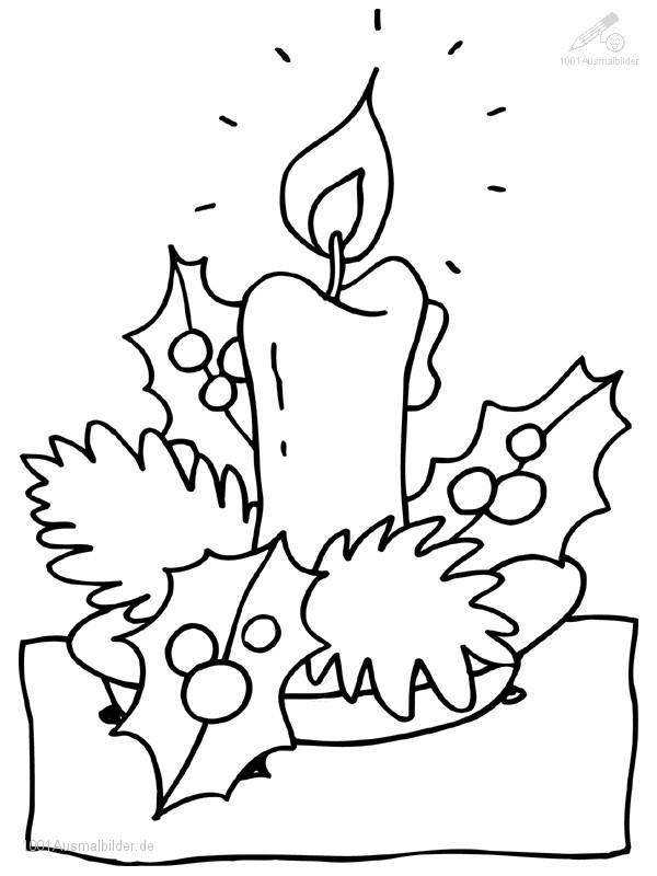 Ausmalbild Weihnachts Kerze