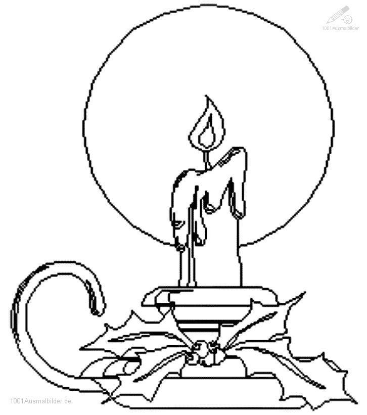 1001 Ausmalbilder Weihnachten Kerzen Ausmalbild Weihnachts Kerze