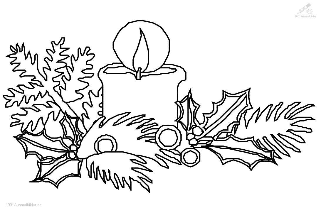Ausmalbild: ausmalbild-weihnachts-kerze-6