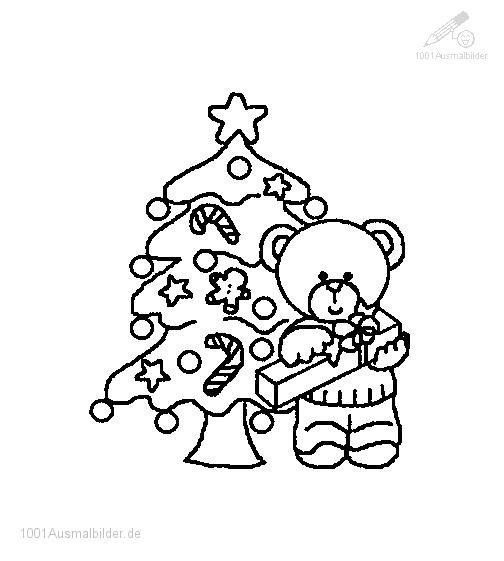 Ausmalbild: ausmalbild-weihnachtsbaum-12