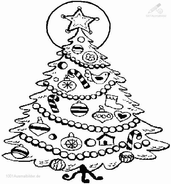 1001 Ausmalbilder Weihnachten Weihnachtsbaum Ausmalbild