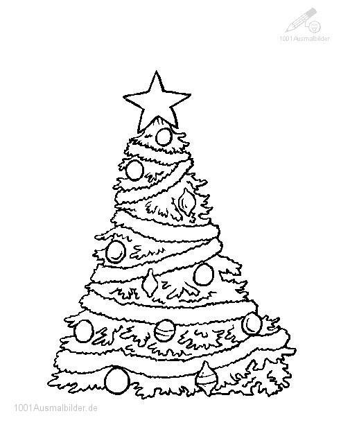 Ausmalbild Weihnachtsbaum
