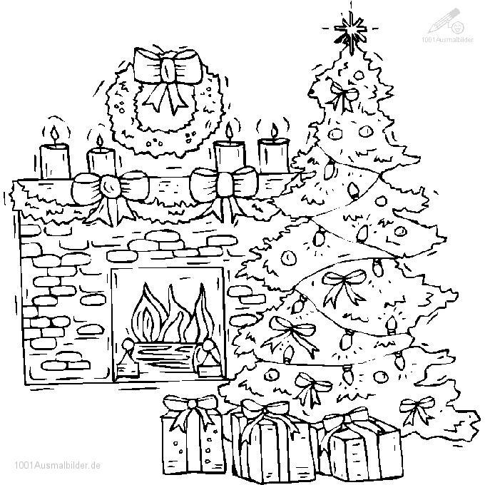 ausmalbild ausmalbild weihnachtsbaum 3. Black Bedroom Furniture Sets. Home Design Ideas