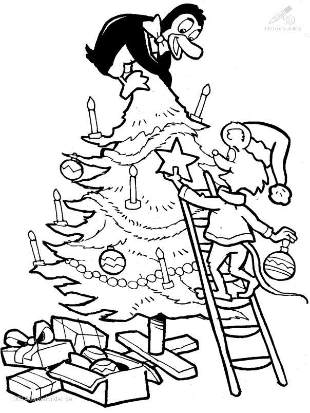1001 AUSMALBILDER : Weihnachten >> Weihnachtsbaum >> Ausmalbild ...