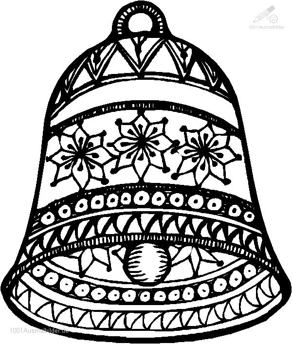 Ausmalbild Weihnachts glocke