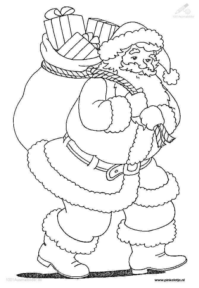 1001 Ausmalbilder Weihnachten Weihnachtsmann Ausmalbild Weihnachtsmann