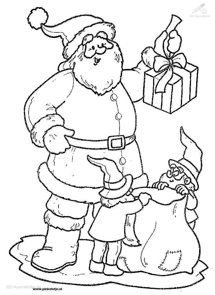 Ausmalbild: ausmalbild-weihnachtsmann-14