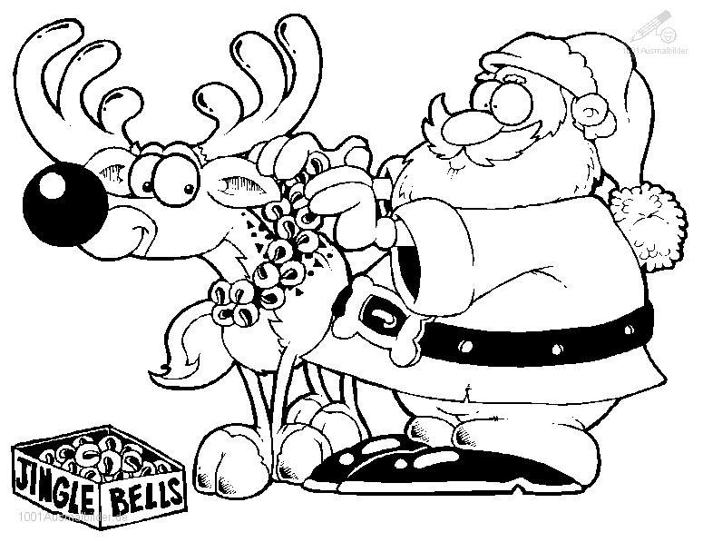 Weihnachtsmann Ausmalbild