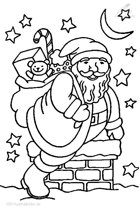 Ausmalbild: ausmalbild-weihnachtsmann-9