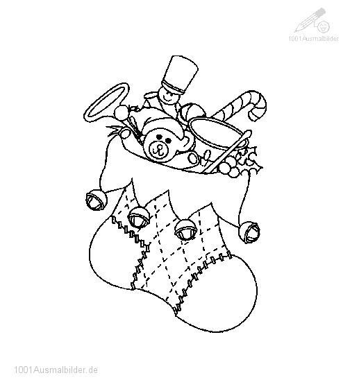 Ausmalbild: ausmalbild-weihnachtssocke-3