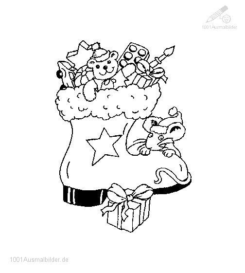 Ausmalbild: ausmalbild-weihnachtssocke-5