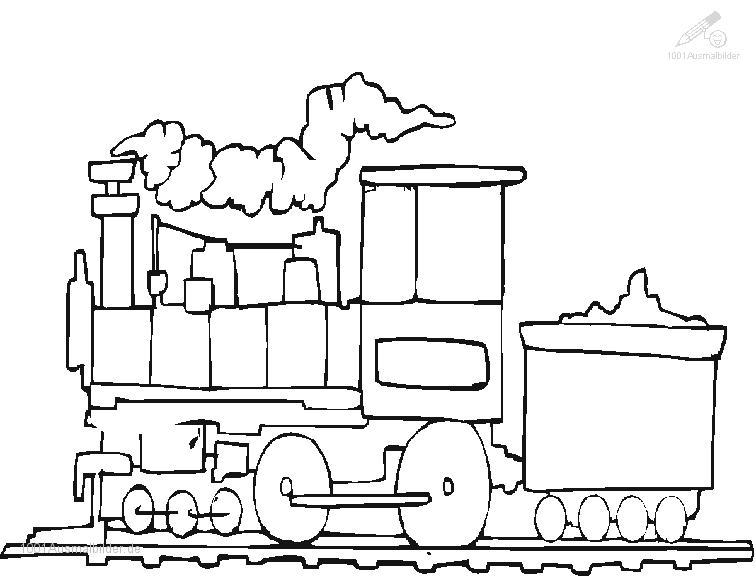 Ausmalbild Zug