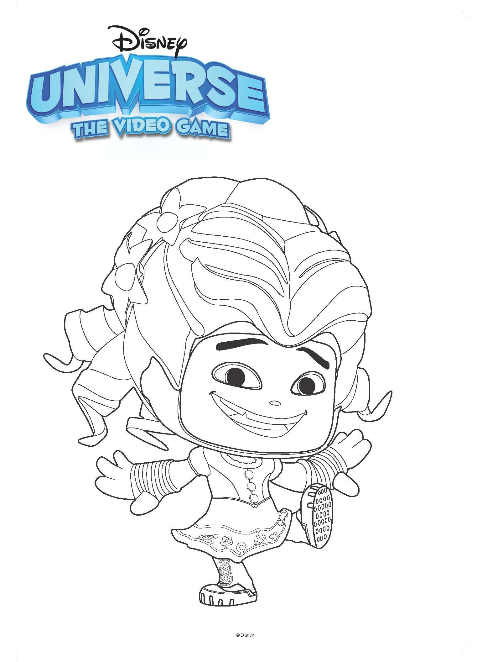 Ausmalbild Disney Alice