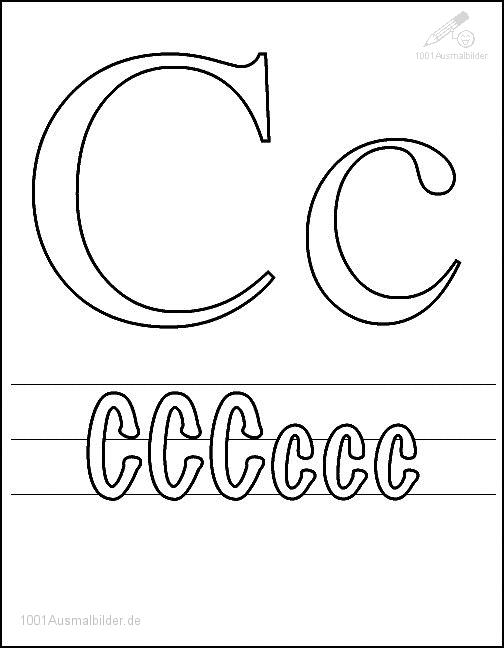 Ausmalbild: kleurplaat-letter-c