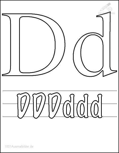 Ausmalbild: kleurplaat-letter-d