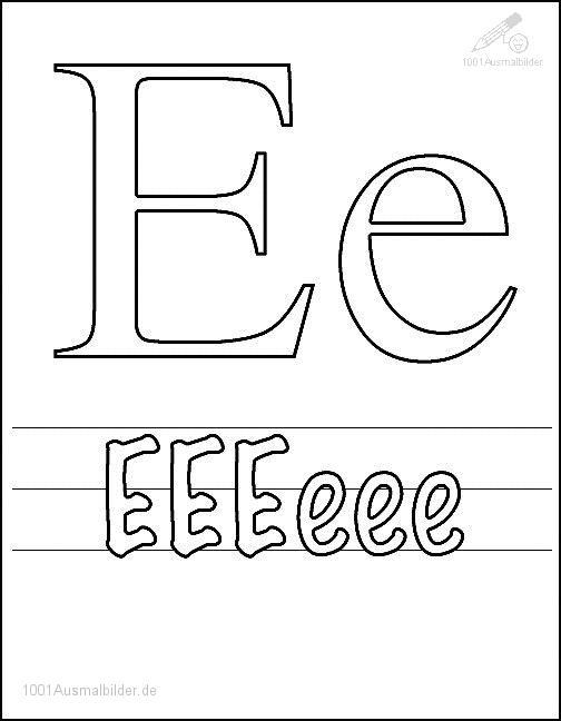 Ausmalbild: kleurplaat-letter-e