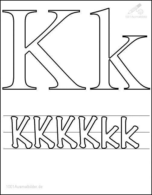 Ausmalbild: kleurplaat-letter-k