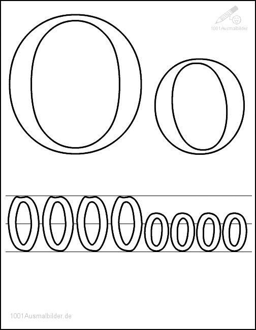 Ausmalbild: kleurplaat-letter-o