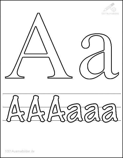 Ausmalbild Schriftzeichen A