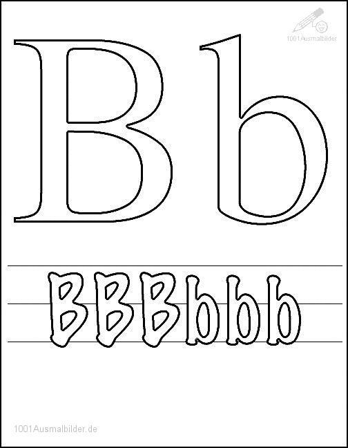 Ausmalbild Schriftzeichen B