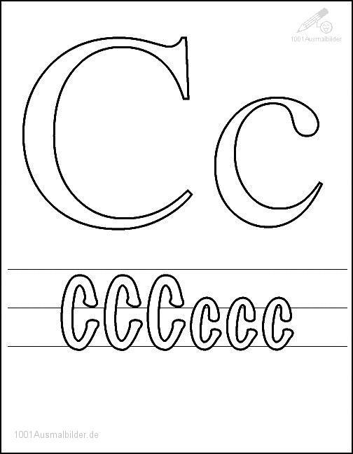 Ausmalbild Schriftzeichen C