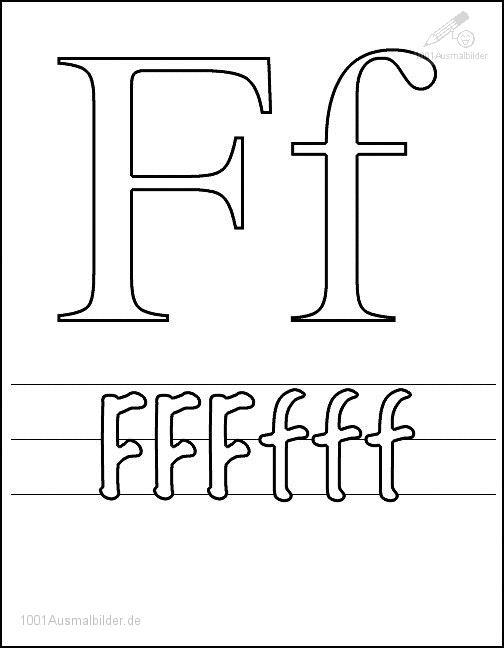 Ausmalbild Schriftzeichen F