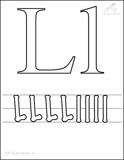Ausmalbild Schriftzeichen M