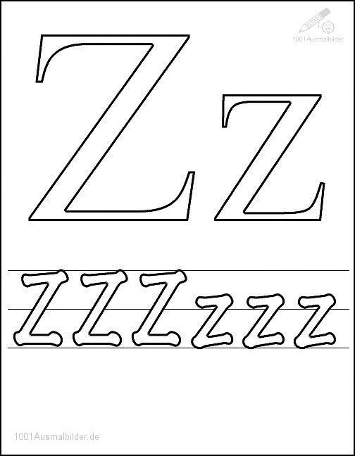 Ausmalbild Schriftzeichen Z