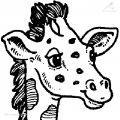Ausmalbild Giraffe>> Ausmalbild Giraffe