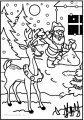 Ausmalbild Rentier Rudolph