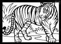 Ausmalbild Tiger >> Ausmalbild Tiger