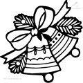 Ausmalbild Weihnachtsglocke>> Ausmalbild Weihnachtsglocke