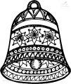 Ausmalbild Weihnachts glocke>> Ausmalbild Weihnachts glocke