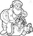 Ausmalbild Weihnachtsmann>> Ausmalbild Weihnachtsmann
